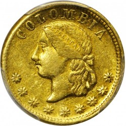 Monēta > 5peso, 1864 - Kolumbija  - obverse