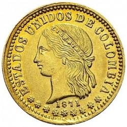 Münze > 2Pesos, 1871-1876 - Kolumbien  - obverse