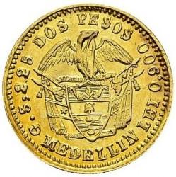 Münze > 2Pesos, 1871-1876 - Kolumbien  - reverse