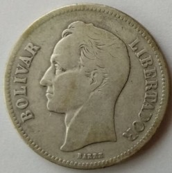 سکه > 2بولیوار, 1879-1936 - ونزوئلا  - obverse