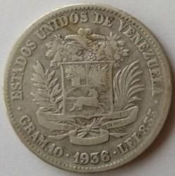 سکه > 2بولیوار, 1879-1936 - ونزوئلا  - reverse