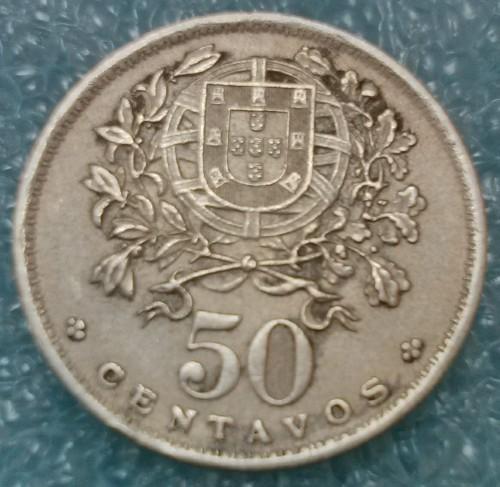 PORTUGAL  50 centavos 1944 etat