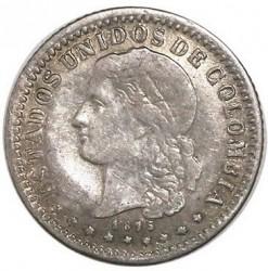 Monēta > 5sentavo, 1875-1885 - Kolumbija  - obverse