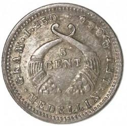 Monēta > 5sentavo, 1875-1885 - Kolumbija  - reverse