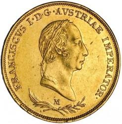 Монета > 1соврано, 1822-1835 - Ломбардо-Венеційське  - obverse