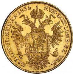 Монета > 1соврано, 1822-1835 - Ломбардо-Венеційське  - reverse