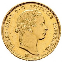 Монета > ½соврано, 1854-1856 - Ломбардо-Венеційське  - obverse
