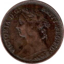 Moneta > 1farthing, 1874-1895 - Wielka Brytania  - obverse