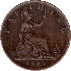 Moneta > 1farthing, 1874-1895 - Wielka Brytania  - reverse