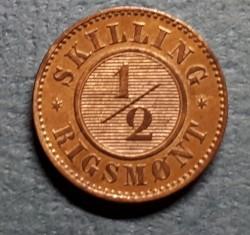 Moneda > ½skillingrigsmont, 1868 - Dinamarca  - reverse