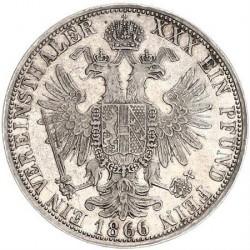 Монета > 1верейнсталер, 1866-1867 - Австрия  - reverse