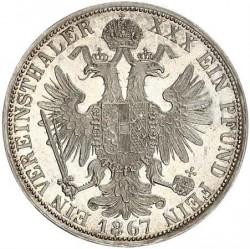 Münze > 1Vereinstaler, 1866-1867 - Österreich   - reverse