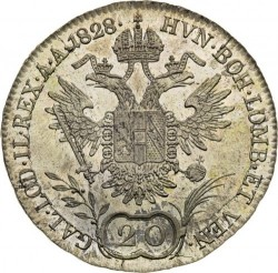 Монета > 20кройцера, 1825-1828 - Австрия  - reverse