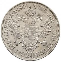Moneta > 20kreicerių, 1852 - Austrija  (Portretas į kairę) - reverse