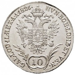Монета > 10кройцера, 1825-1830 - Австрия  - reverse