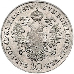 Moneda > 10kreuzer, 1832-1835 - Austria  - reverse
