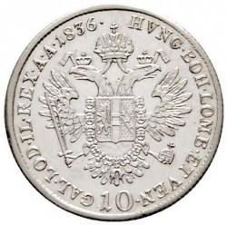 Монета > 10кройцера, 1835-1836 - Австрия  - reverse