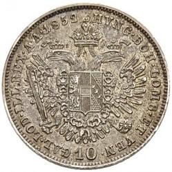Monedă > 10сreițari, 1852-1855 - Austria  - reverse