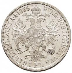 Монета > 1флорин, 1866 - Австрія  - reverse