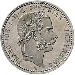 Монета > ¼флорин, 1867-1871 - Австрия  - obverse