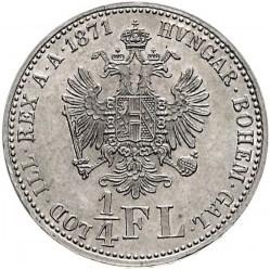 Монета > ¼флорин, 1867-1871 - Австрия  - reverse