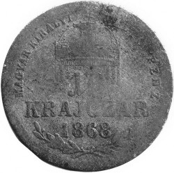 Moeda > 10krajcar, 1868-1869 - Hungria  - reverse