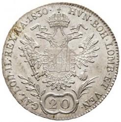 Монета > 20кройцера, 1829-1830 - Австрия  - reverse