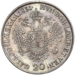 Moneda > 20kreuzer, 1831-1835 - Àustria  - reverse