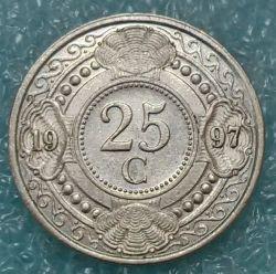 Moneda > 25cents, 1989-2016 - Antilles Neerlandeses  - obverse
