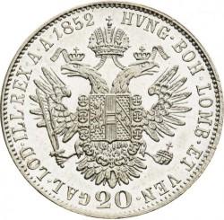 Monedă > 20сreițari, 1852-1856 - Austria  - reverse