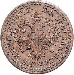 Moneta > 3kreiceriai, 1851 - Austrija  - reverse