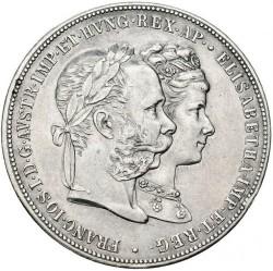 Moneda > 2florin, 1879 - Àustria  (Aniversari Noces d'Argent) - obverse