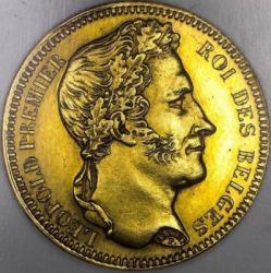Monedă > 20franci, 1834-1841 - Belgia  - obverse