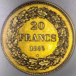 Monedă > 20franci, 1834-1841 - Belgia  - reverse