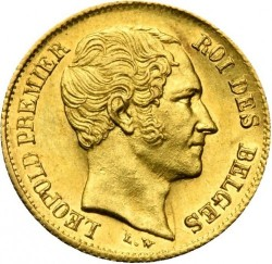 Moneta > 10franchi, 1849-1850 - Belgio  - obverse