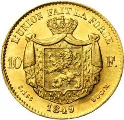 Moneta > 10franchi, 1849-1850 - Belgio  - reverse