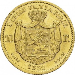 Moneta > 10franchi, 1850 - Belgio  - reverse