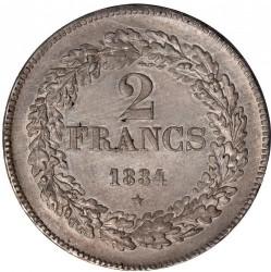 Moneta > 2franchi, 1834-1844 - Belgio  - reverse