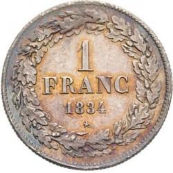 Moneta > 1franco, 1833-1844 - Belgio  - reverse