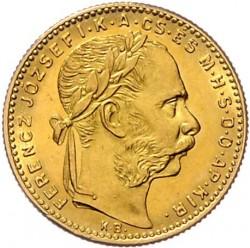 Moeda > 8forinte, 1890-1892 - Hungria  - obverse