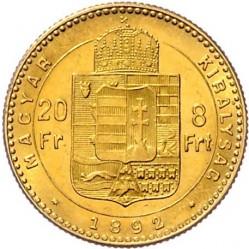 Moeda > 8forinte, 1890-1892 - Hungria  - reverse
