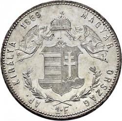 Moeda > 1florin, 1868-1869 - Hungria  - reverse