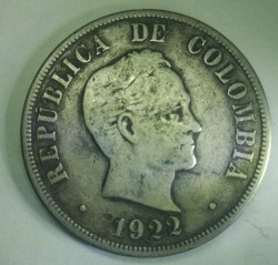 Pièce > 50centavos, 1916-1934 - Colombie  - reverse