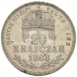 Монета > 20крейцеров, 1868-1869 - Венгрия  - reverse