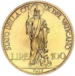 Монета > 100лир, 1936-1937 - Ватикан  - reverse