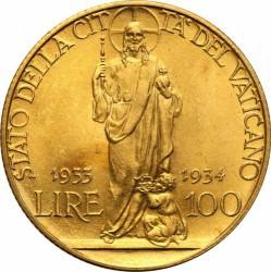 Монета > 100лири, 1933 - Ватикан  - reverse