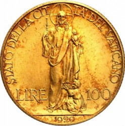 Монета > 100лир, 1929-1935 - Ватикан  - reverse