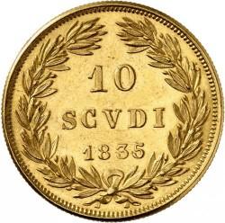 Монета > 10скудо, 1835-1845 - Папская область  - reverse