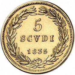Монета > 5скудо, 1835-1846 - Папская область  - reverse