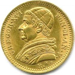 Монета > 2.5скудо, 1835-1846 - Папская область  - obverse